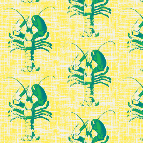salty lobster ©2010 Jill Bull fabric by palmrowprints on Spoonflower - custom fabric