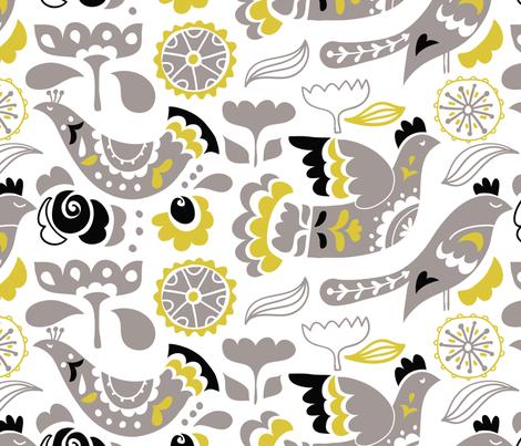 Bird Sunctuary  fabric by chulabird on Spoonflower - custom fabric