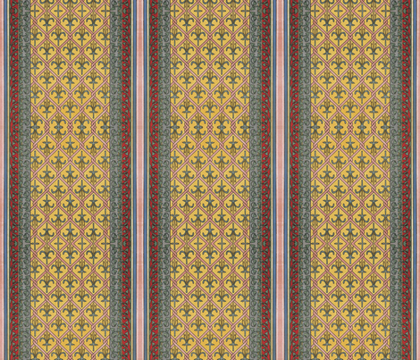 Notre~Dame Saint Guillaume fabric by peacoquettedesigns on Spoonflower - custom fabric