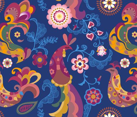 Firebird fabric by chulabird on Spoonflower - custom fabric