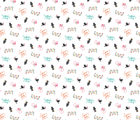 knit graffiti coordinate fabric by carcamella on Spoonflower - custom fabric