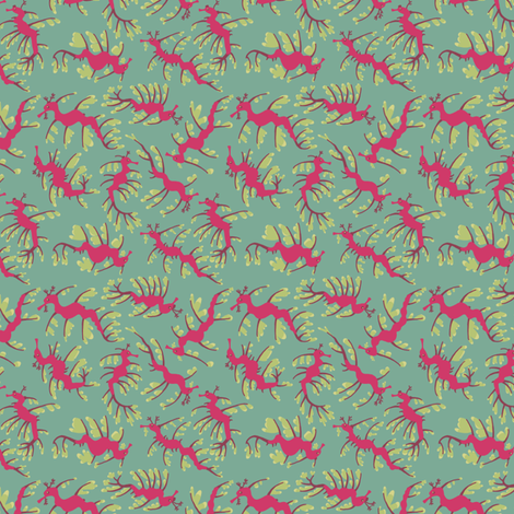 Leafy Seadragons fabric by mongiesama on Spoonflower - custom fabric