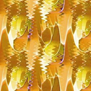 Golden Orange Ripples 5.75x4.5