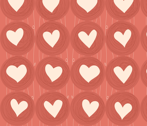 valentine hearts fabric by anastasiia-ku on Spoonflower - custom fabric
