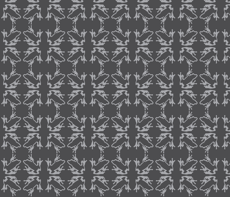 FrogZ Gray fabric by hahma on Spoonflower - custom fabric