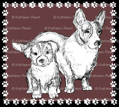 Cardigan Corgi Mom and Pup