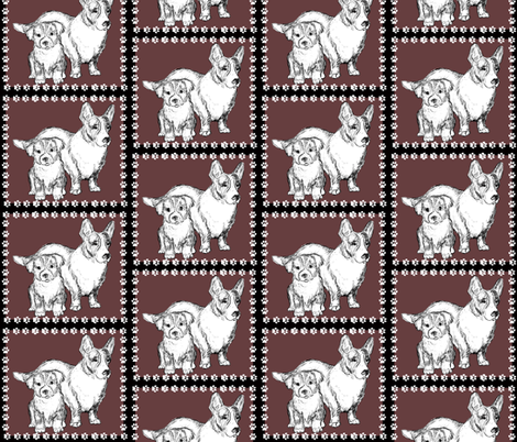 Cardigan Corgi Mom and Pup fabric by dogdaze_ on Spoonflower - custom fabric