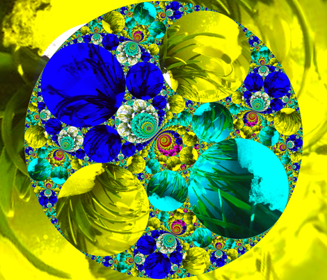 Flowers_in_Snow1 fabric by k_shaynejacobson on Spoonflower - custom fabric