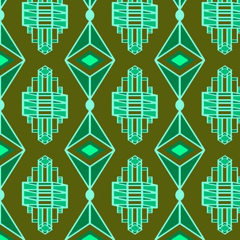 ArtDecoJewelPasturesSky2 fabric by grannynan on Spoonflower - custom fabric