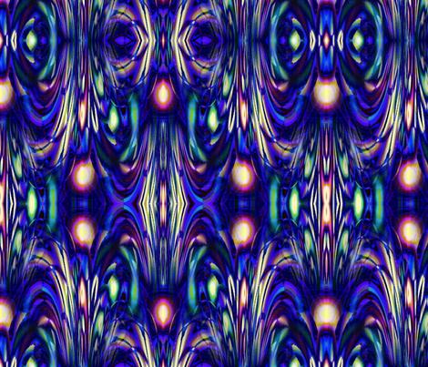 Qbist Fountain 8x8 fabric by missourah_gal on Spoonflower - custom fabric