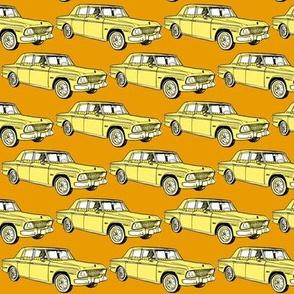 1964 1965 Studebaker Lark Daytona in yellow on goldenrod