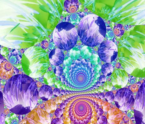 Flowers_in_Snow4_I fabric by k_shaynejacobson on Spoonflower - custom fabric