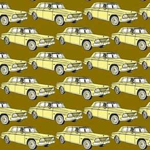 1964 1965 Studebaker Lark Daytona in yellow on gold background