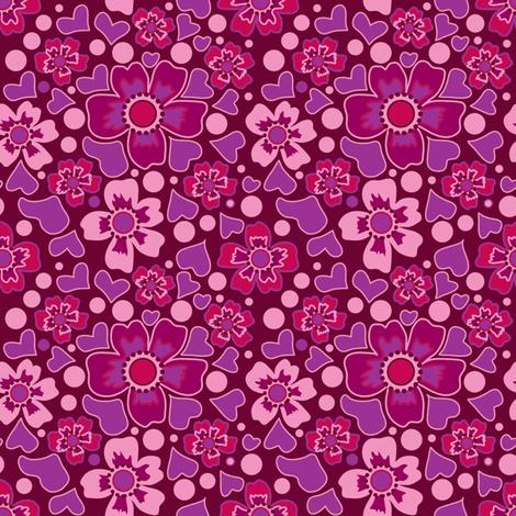brauneblüten-ch fabric by lilliblomma on Spoonflower - custom fabric