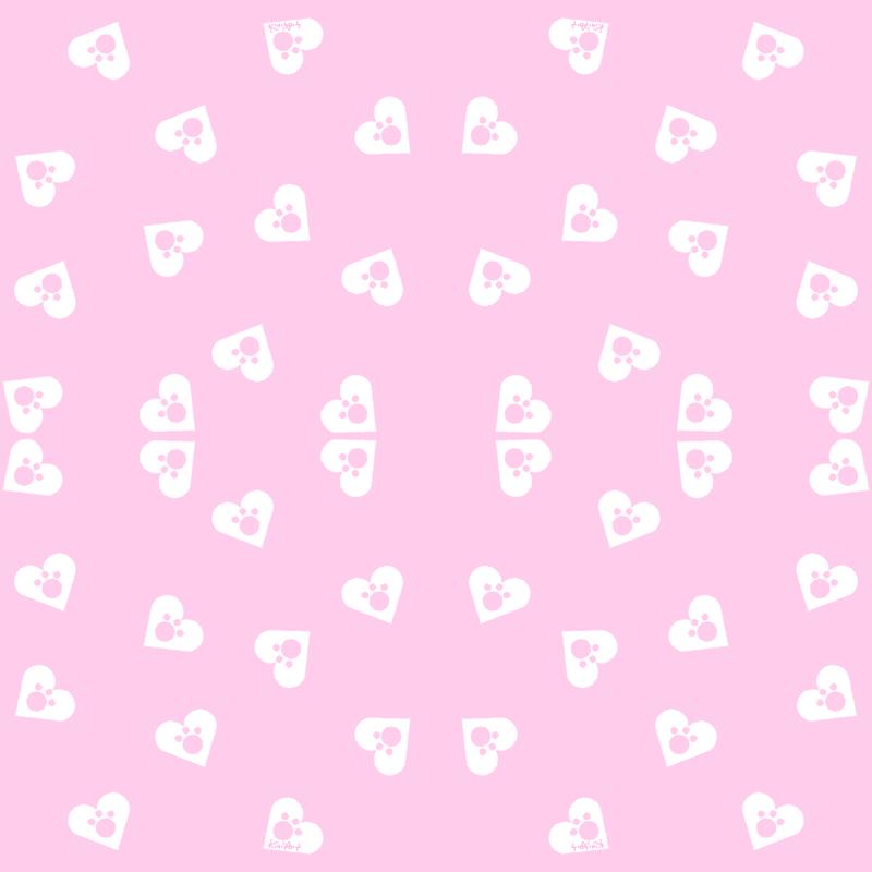 Pink Paws Wallpaper