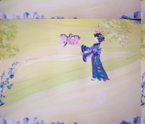 Japanese butterfly fabric by myartself on Spoonflower - custom fabric