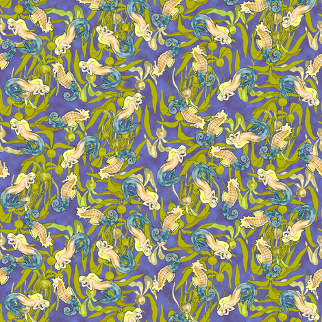I see Seahorses... and.. fabric by eclectic_house on Spoonflower - custom fabric