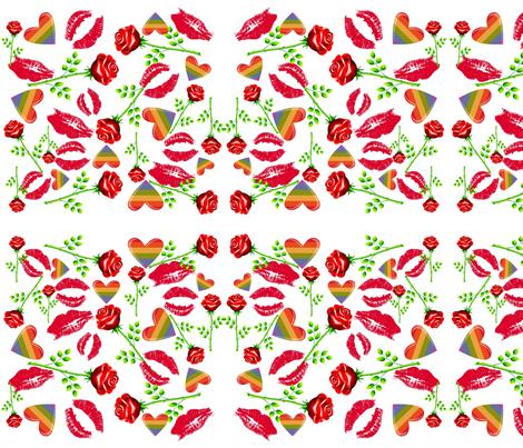 ROSE KISSES fabric by bluevelvet on Spoonflower - custom fabric