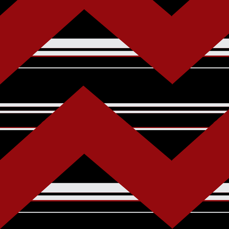 Dragon zig zag fabric by paragonstudios on Spoonflower - custom fabric