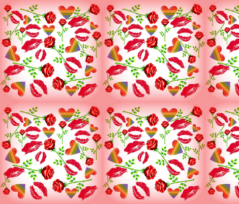 HUGS N KISSES fabric by bluevelvet on Spoonflower - custom fabric