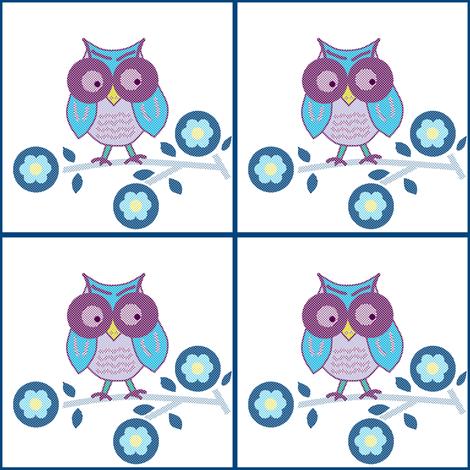 1st little owl fabric by squeakyangel on Spoonflower - custom fabric