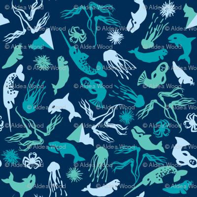 Arctic Ditsy Sea Creatures - Deep Sea