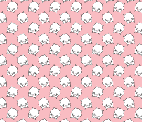Counting Sheep - Pink fabric by me-udesign on Spoonflower - custom fabric