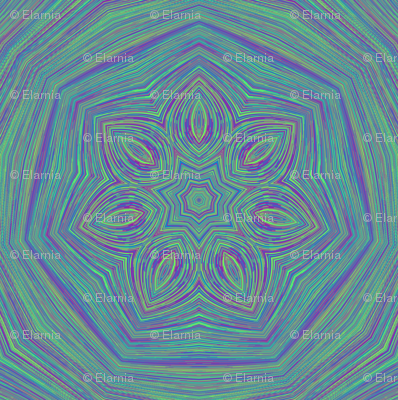 Jellyfish (sm_stripe_kal_blue-green_1)