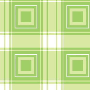 geometric plaid with squares-mossy glen