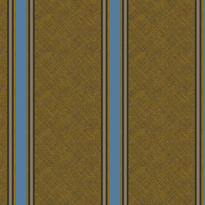 blue burlap stripe