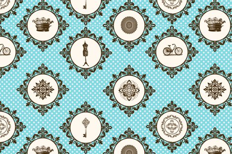 Shabby vintage Pattern fabric by badiem on Spoonflower - custom fabric