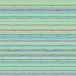 Bonaire Baby - Teal stripes