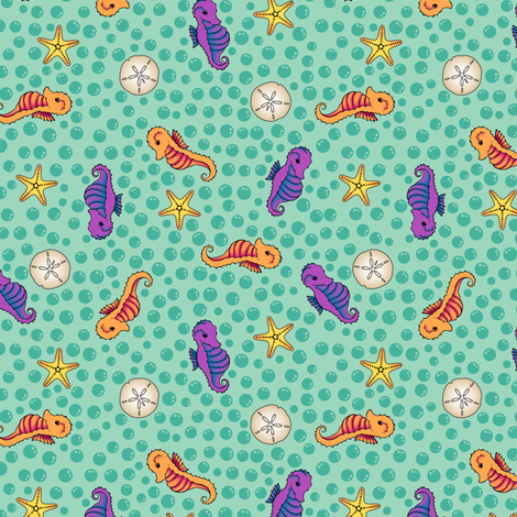 Bonaire Baby - Seahorses fabric by jmckinniss on Spoonflower - custom fabric