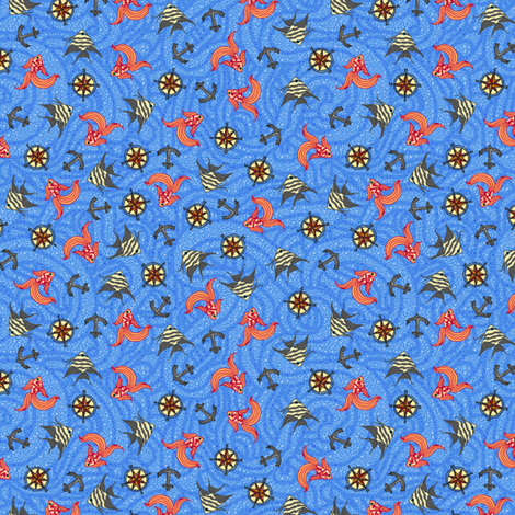 Sea Song Ditsy fabric by leighr on Spoonflower - custom fabric
