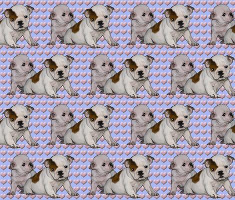 Bulldog Babies fabric by dogdaze_ on Spoonflower - custom fabric