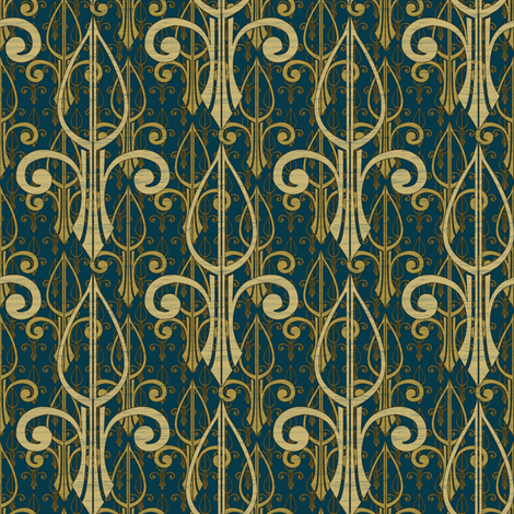 fleurdelis-pr_triple_atlantis fabric by glimmericks on Spoonflower - custom fabric
