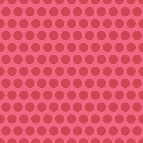 Polka Dot - raspberry fabric by kayajoy on Spoonflower - custom fabric