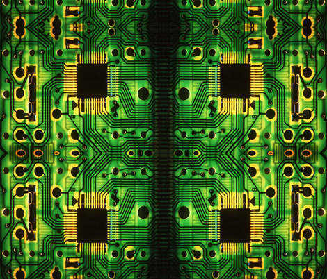 CIRCUIT BOARD fabric by bluevelvet on Spoonflower - custom fabric