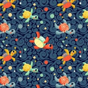 Ditsy Sea Turtles