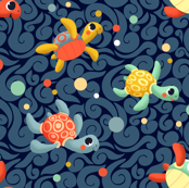 Ditsy Sea Turtles