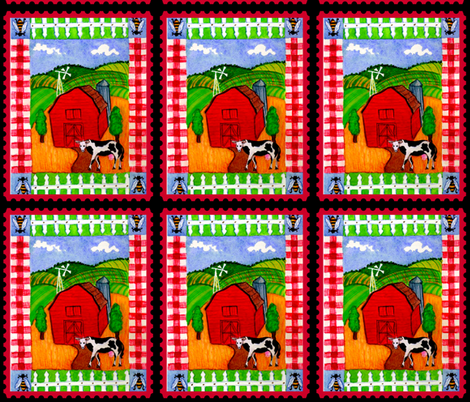 COUNTRY HOME  fabric by bluevelvet on Spoonflower - custom fabric