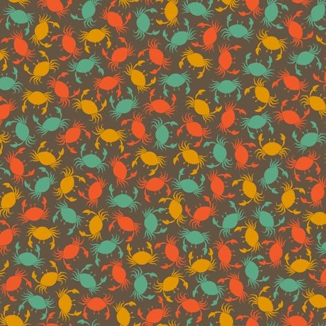 Crabs fabric by fattcheese on Spoonflower - custom fabric