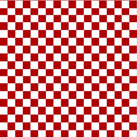 Red and White checkerboard. fabric by whimzwhirled on Spoonflower - custom fabric