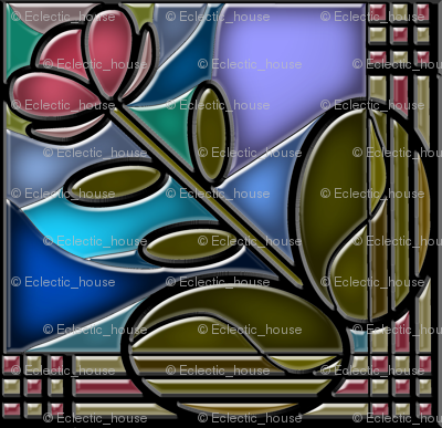 Stained Glass Bloom 2