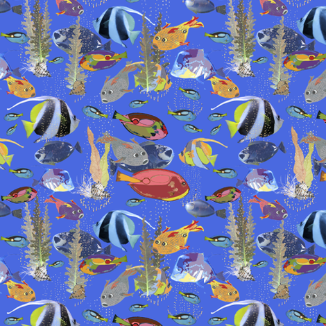 Fishy fabric by petals_fair_(peggy_brown) on Spoonflower - custom fabric