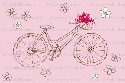Flower Basket Pink Bike