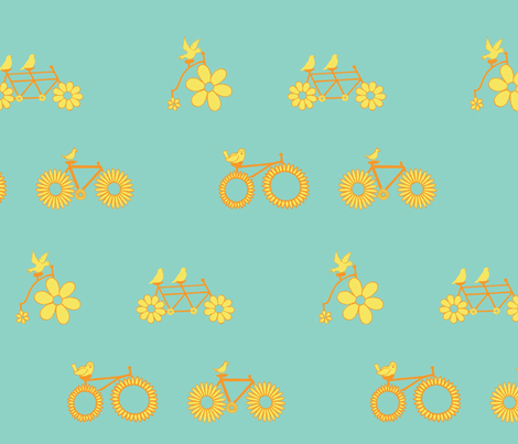 Birdie Bike Race fabric by denise_erickson on Spoonflower - custom fabric