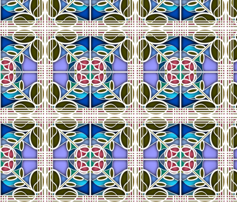 Stained Glass Bloom 6 fabric by eclectic_house on Spoonflower - custom fabric