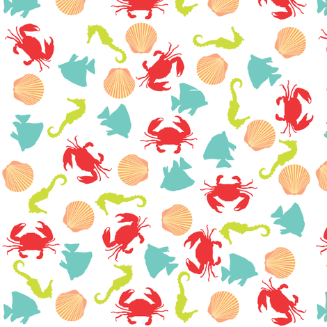 tossedsea_SF fabric by sophie_buttons on Spoonflower - custom fabric