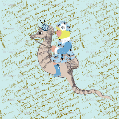 Sarah and her magical seahorse